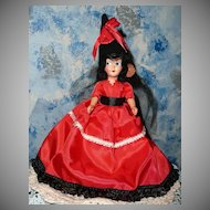 "Spanish Senorita 8""  like  Nancy Ann  Doll"