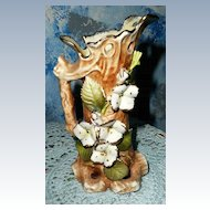 Pretty White Wild Flowers Pitcher Shaped Vase