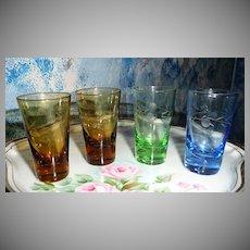Vintage set of 4 cordial Liquor Cups