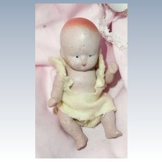 Little Doll House Bisque Baby Boy with Original Clothes