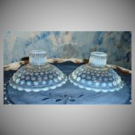 Anchor Hocking Moonstone Opalescent Set of Candlesticks
