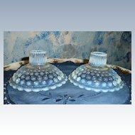 Anchor Hocking Moonstone Opalescent Set of Candlesticks