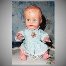 Cute Plastic Baby Doll Gorgeous Blue Eyes!