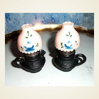 Hurricane Lamps Iron and Plastic Shakers
