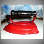 Child Red Metal Play Iron