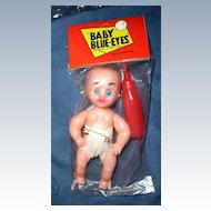 'Baby Blue-Eyes' Mini Baby doll with Drinking  Bottle *MINT