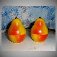 Vintage Set of Pear Salt and Pepper Shakers