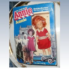 "Knickerbocker  The World of Annie 8"" Doll *New in Box"