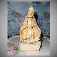 Beautiful Holy Virgin Mary with Born  Baby Jesus