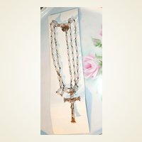 Vintage White Rosary Made in Jerusalem *Mint in Card