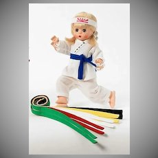 Wendy  by Madame Alexander in  White Karate Outfit NIB