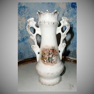 Small Country Girl Transfer Austria Vase
