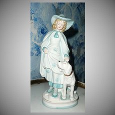 Blue Demoiselle  Girl with Big White Doll by Andrea by Sadek