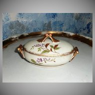 Pretty Hand-Painted Violets  Oval Dish