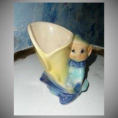 Pottery  Blue Elf Planter