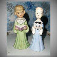 Two Church Chorus Figurines