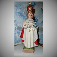 Tall  Vintage Infant  Jesus of Prague