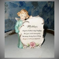 Cute Angel Honoring Mother Plaque