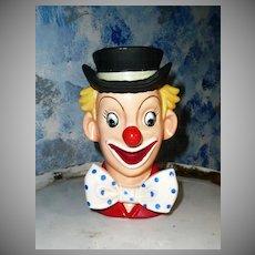 1958 NATIONAL Potteries  Beautiful Clown Head Vase
