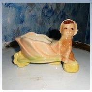Very Old Pottery Pixie Elf Planter