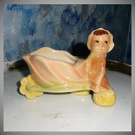 Very Old Pottery Pixie Elf Planter