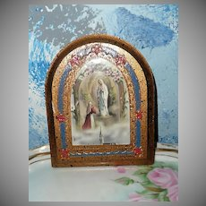 Our Lady of Lourdes Hand-Made Wall Plaque