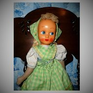 "Pretty Old mask Face 16""  Doll"