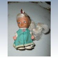 1984 Pee Wee Ponytails Uneeda White Hair Doll *NIB