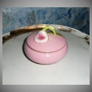 Beautiful 1980's  Pink Flower Porcelain  Powder Dish