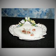 Beautiful German Porcelain  Dish/Tray * RARE