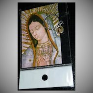 Our Lady Of Guadalupe Roman Catholic Rosary Ring with Medal and Card