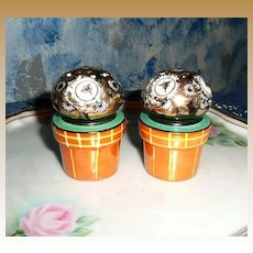 Flower Pots Sets of Salt and Pepper Shakers