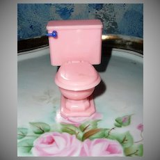 Tootsie Toy Pink Toilet by Arenwall of Canada 1946