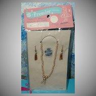 Vintage Doll Premier Faux Pearls  Necklace  & Earring Set