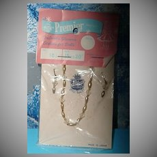 Vintage Premier Doll Necklace and Earring Set *Brand New