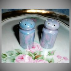 Vintage Blue Luster Color Set of  Shakers