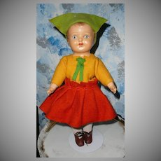 "14""  Dutch Girl Doll 1916 Averill"