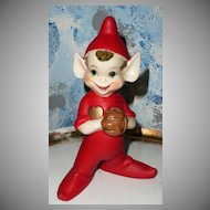 "Large 8"" Baseball Pitcher Player Pixie Elf"