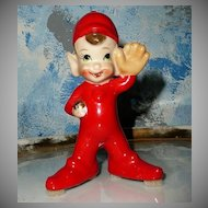 "Cute 5"" Baseball Pitcher Pixie Elf"