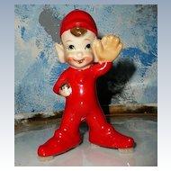 "Cute 5"" Baseball Pitcher Pixie Elf"