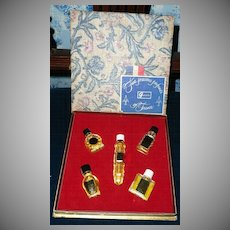 Vintage Gift Box of  'Five  Precious Perfumes of France' by Galerie