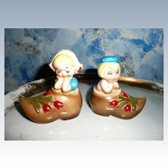 Lefton Set of Dutch Children on Clog Shakers