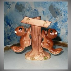 Cute Squirrels on Tree Set of Shakers
