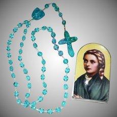 Vintage 1980's Roman Catholic Rosary Saint Bernadette
