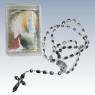 Vintage Rare Roman Catholic Rosary Our Lady of Lourdes with case