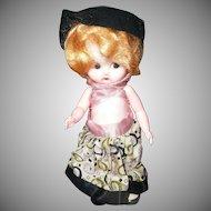"Cute 7"" 1950's Hard Plastic Doll"