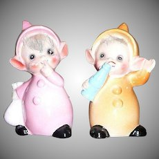 The cutest pair of Babies  Elfs by Josef Originals