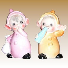 The cutest pair of Babies  Elfs by Josef Originals
