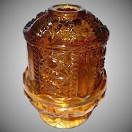 Authentic  Tiara Glass Hurricane Lamp 1970