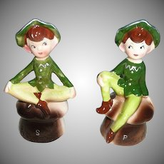 Enesco Set of  Green Pixie Elf Shakers